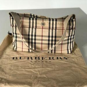 Burberry Nova Check Canvas Shoulder Bag